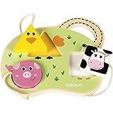 Goula D53452 3 Farm Animals Wooden Jigsaw Puzzle