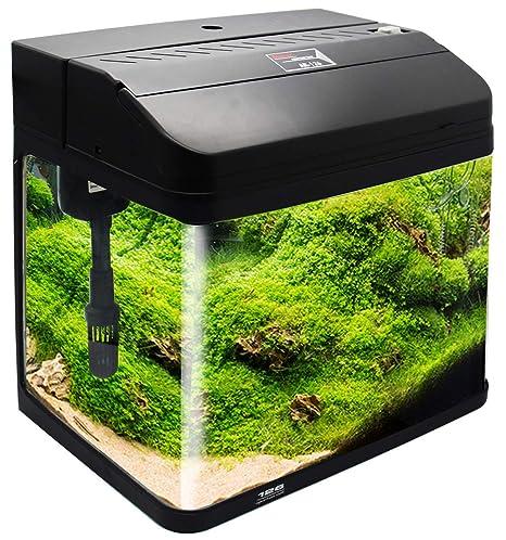 BPS Kit de Acuario con Iluminación LED Bomba Filtro y Accesorios para Pecera Peces (L