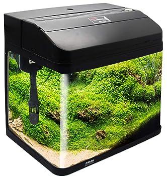 BPS Kit de Acuario con Iluminación Bomba Filtro y Accesorios para Pecera Peces (L: 38x26x47 cm, Negro) BPS-6005NE: Amazon.es: Productos para mascotas