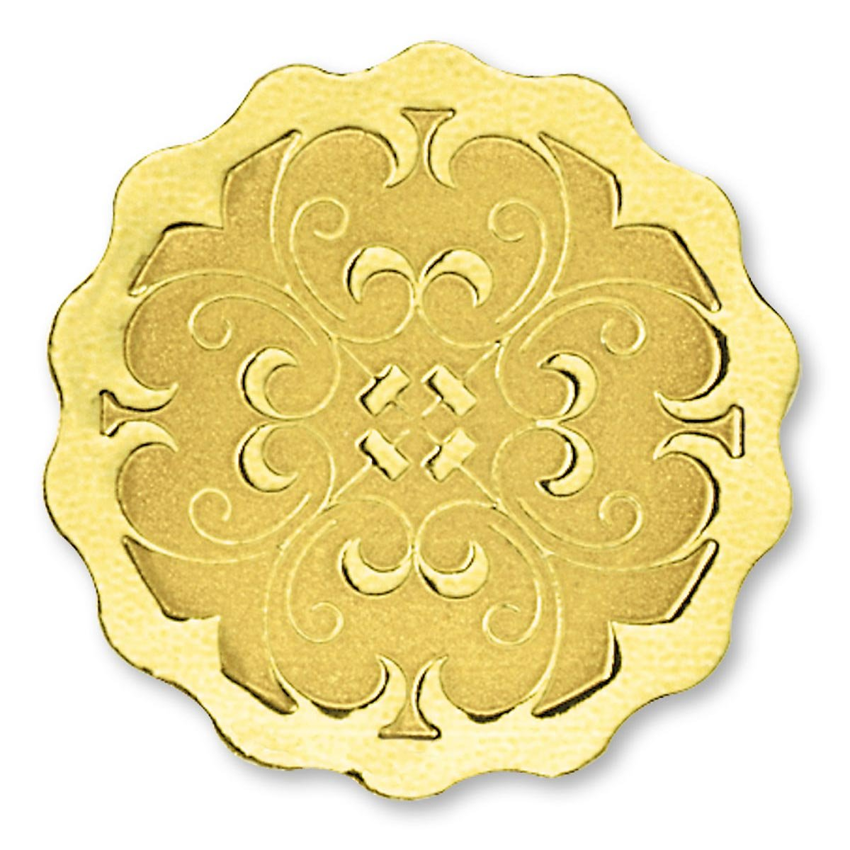 Scalloped Embossed Foil Certificate Seals, 32 Count (Gold) by PaperDirect