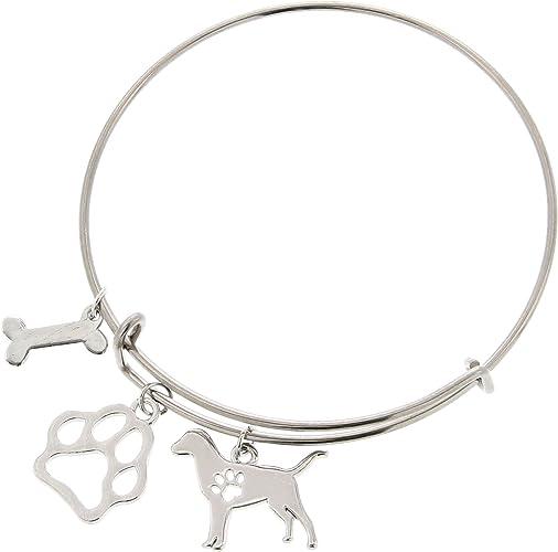 Dog Mom Bangle Bracelet Mothers Day
