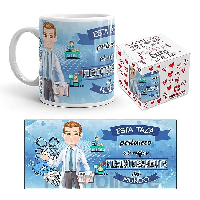 Kembilove Taza de Café del Mejor Fisioterapeuta del Mundo – Taza de Desayuno para la Oficina – Taza de Café y Té para Profesionales – Taza de Cerámica ...