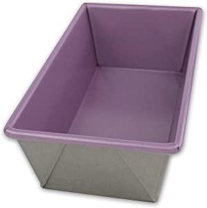 USA Pan Allergy Id Nonstick Loaf Pan, 1 Pound, Purple