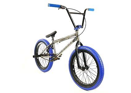 "Elite 20"" BMX Bicycle Destro Model Freestyle Bike New 2018 (Raw Blue) best bmx bikes"