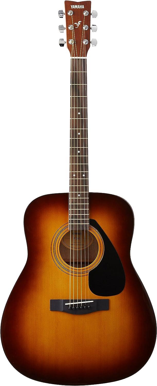 Yamaha F310 Guitarra Acústica - Guitarra Folk 4/4 de madera, 63.4 cm, 25 pulgadas, 6 cuerdas metálicas, color Marrón (Tobacco Brown Sunburst)