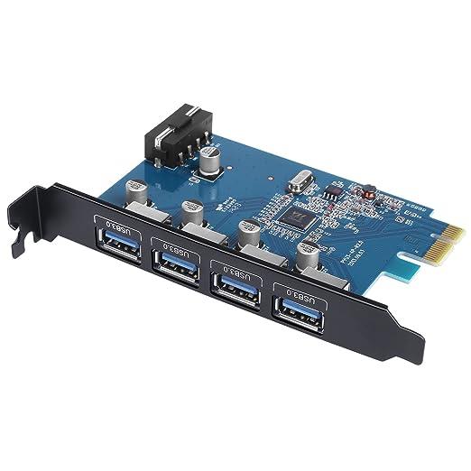 30 opinioni per AUKEY Scheda di Espansione 4 Porte USB 3.0 Scheda PCI-Express per Windows 7 /