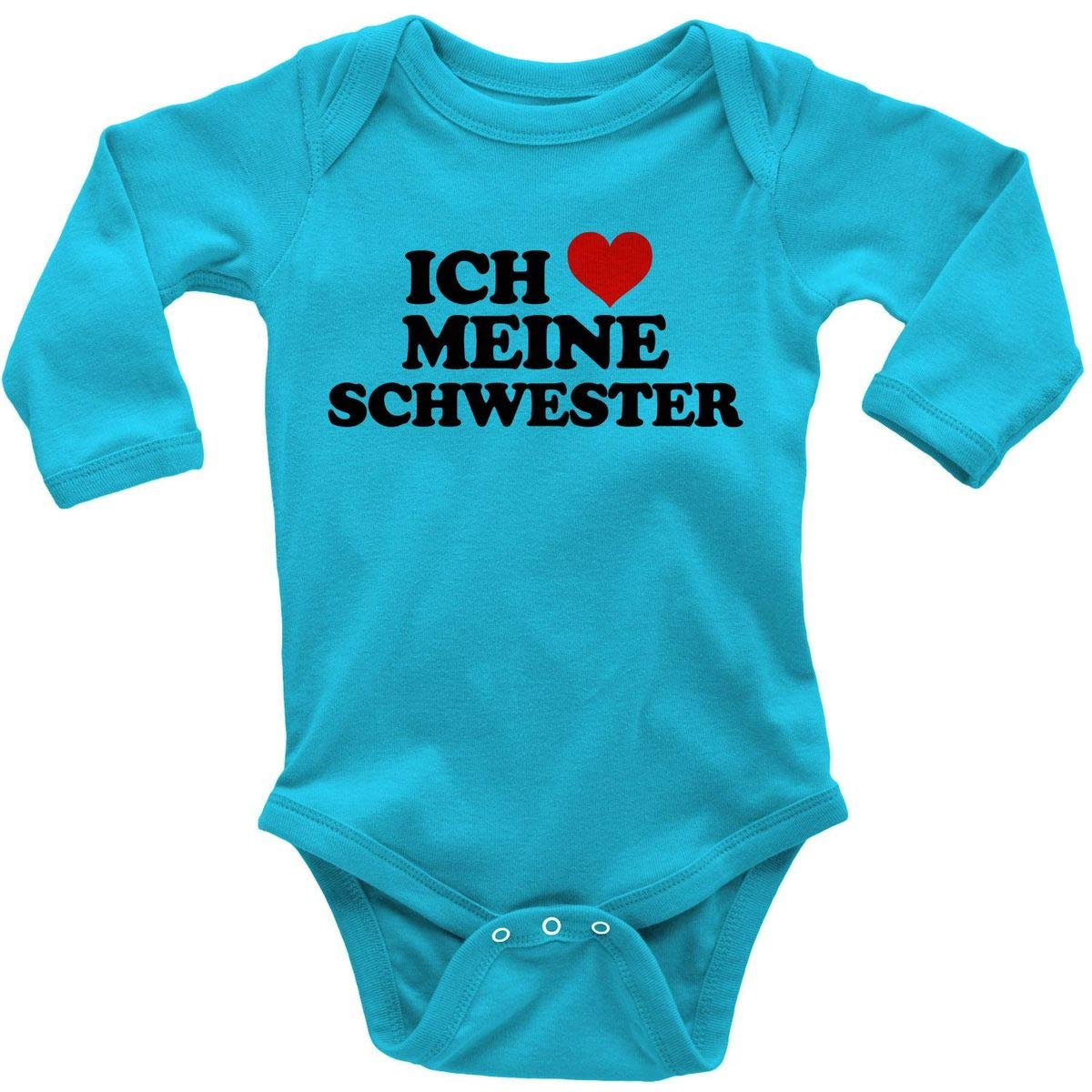 "Lustig Baby Body /"" I Love My Sister This Much /"" Baby-Body Strampler Junge"