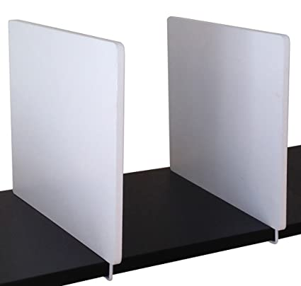 White Wood 2 Pc Shelf Dividers With Twist T Locking System Usa Patented