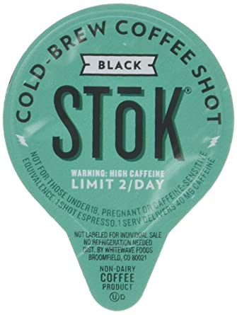 SToK Caffeinated Black Coffee Shots, 264-Count Single-Serve Packages ...