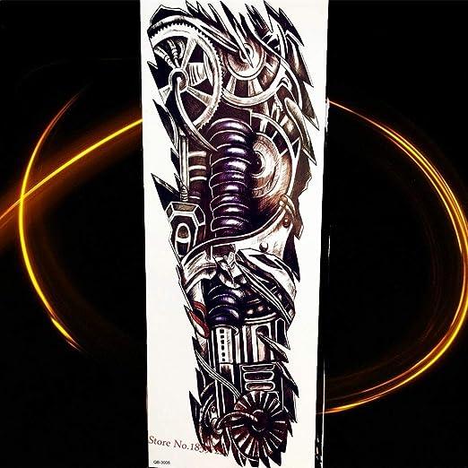 Zhuhuimin 3D Negro Brújula Reloj Rose Big Flower Body Tattoo ...