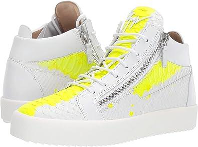 f46e8a1db0e0 Giuseppe Zanotti Men s May London Mid Top Zayn Sneaker White Yellow 41 ...