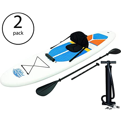 Amazon.com   Bestway Hydro-Force White Cap Inflatable SUP Stand Up ... 536e486d55