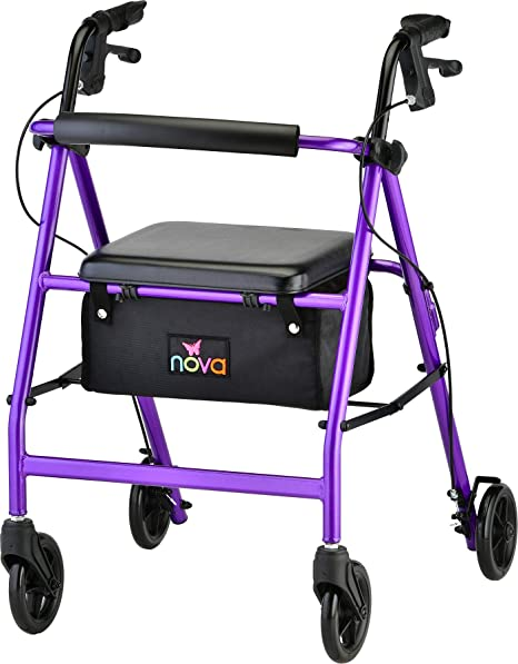 Amazon.com: Andadera con ruellas Nova Medical Products ...
