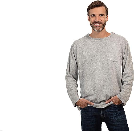 MAI - Camisa de cirugía con Hombros Descubiertos | Ropa de quimio | Camiseta de Manga Larga para Hombre