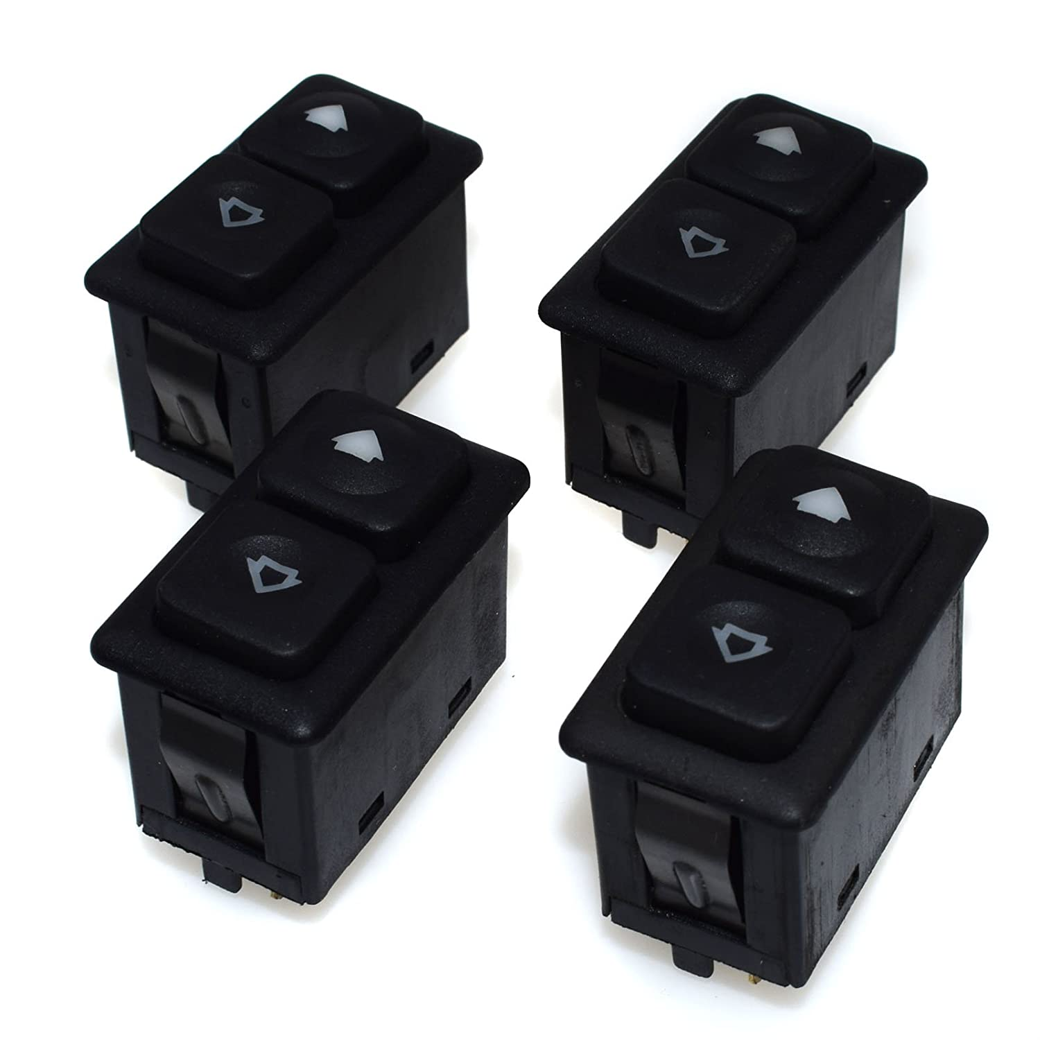 New 4PCS Power Window Sunroof Switch Illuminated 61311381205/61 31 1 381 205 For BMWS E30 E24 E28 from 09/1986 eGang Auto