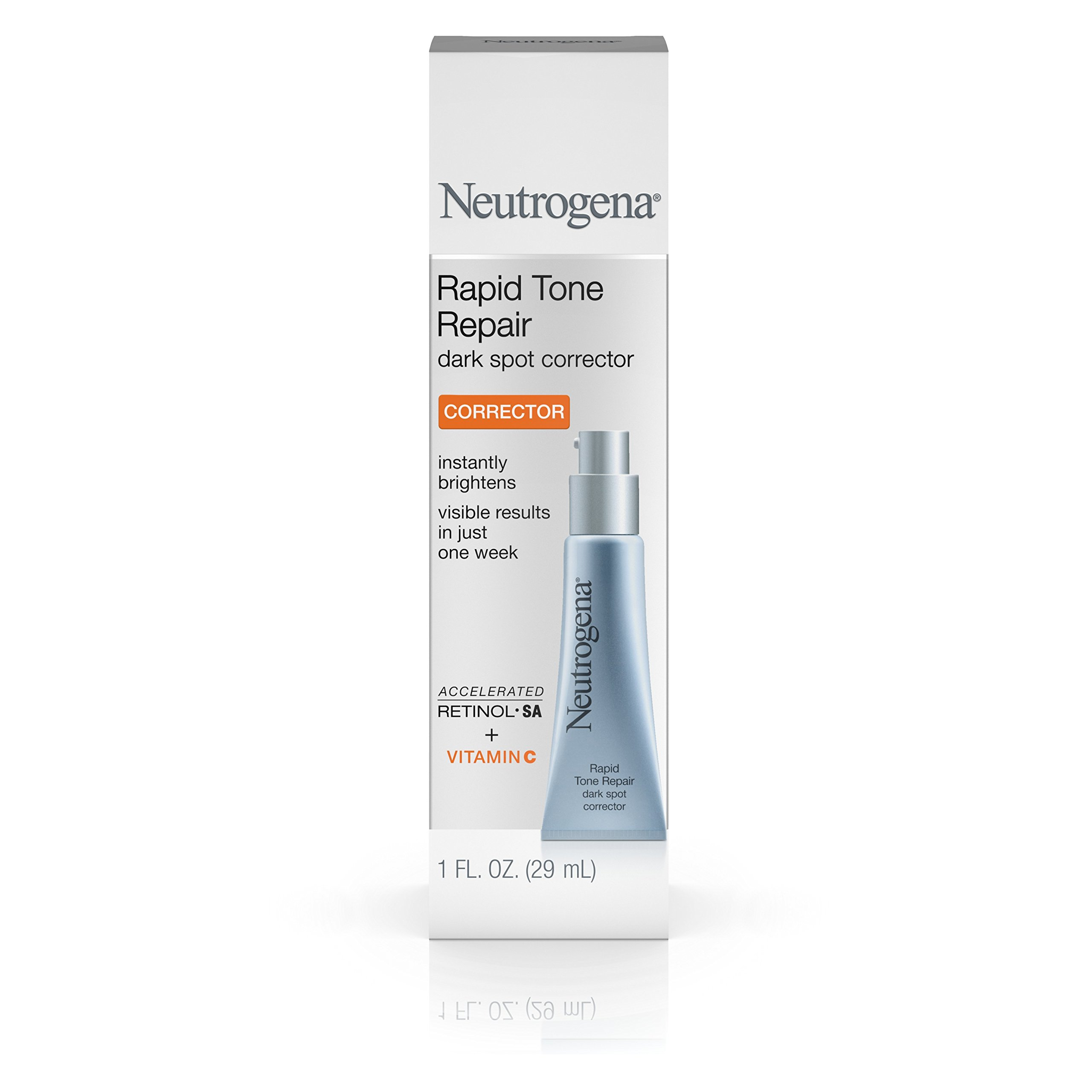Neutrogena Rapid Tone Repair Dark Spot Corrector with Retinol SA, Vitamin C, and Hyaluronic Acid to Diminish the look of Skin Discoloration and dark Spots, 1 oz