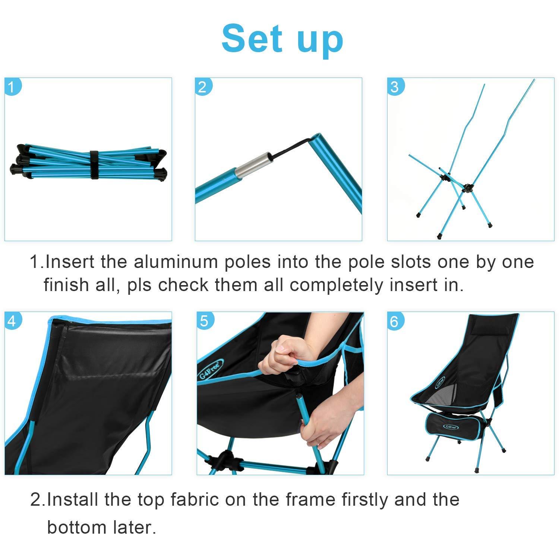 Amazon.com: G4Free - Silla de camping portátil y ligera ...