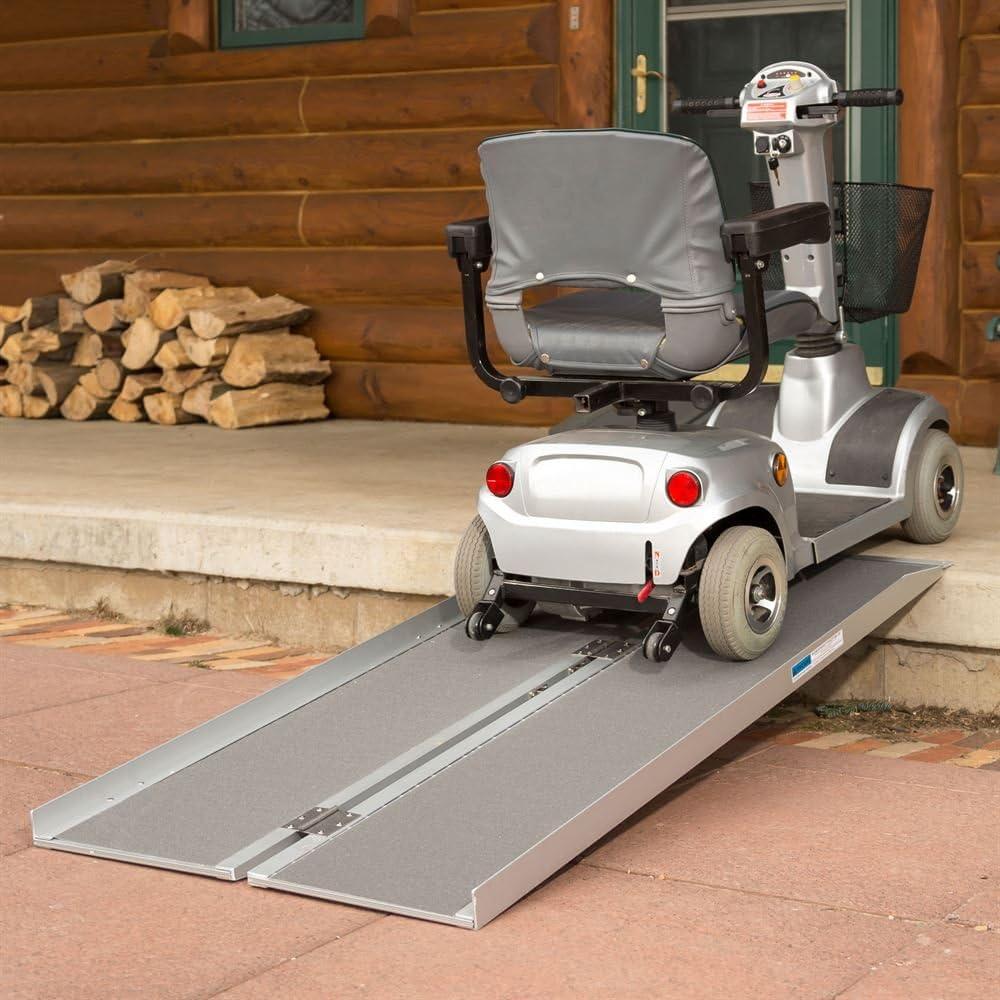 Amazon.com: Rampas plegables de aluminio para silla de ...