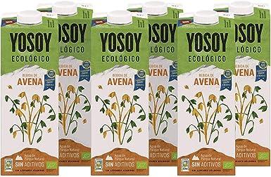 Yosoy - Bebida Vegetal Ecológica de Avena, Caja de 6 x 1L: Amazon.es: Alimentación y bebidas