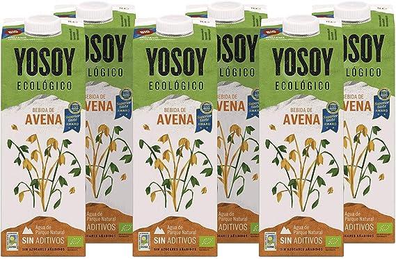 Yosoy - Bebida Vegetal Ecológica de Avena, Caja de 6 x 1L: Amazon ...