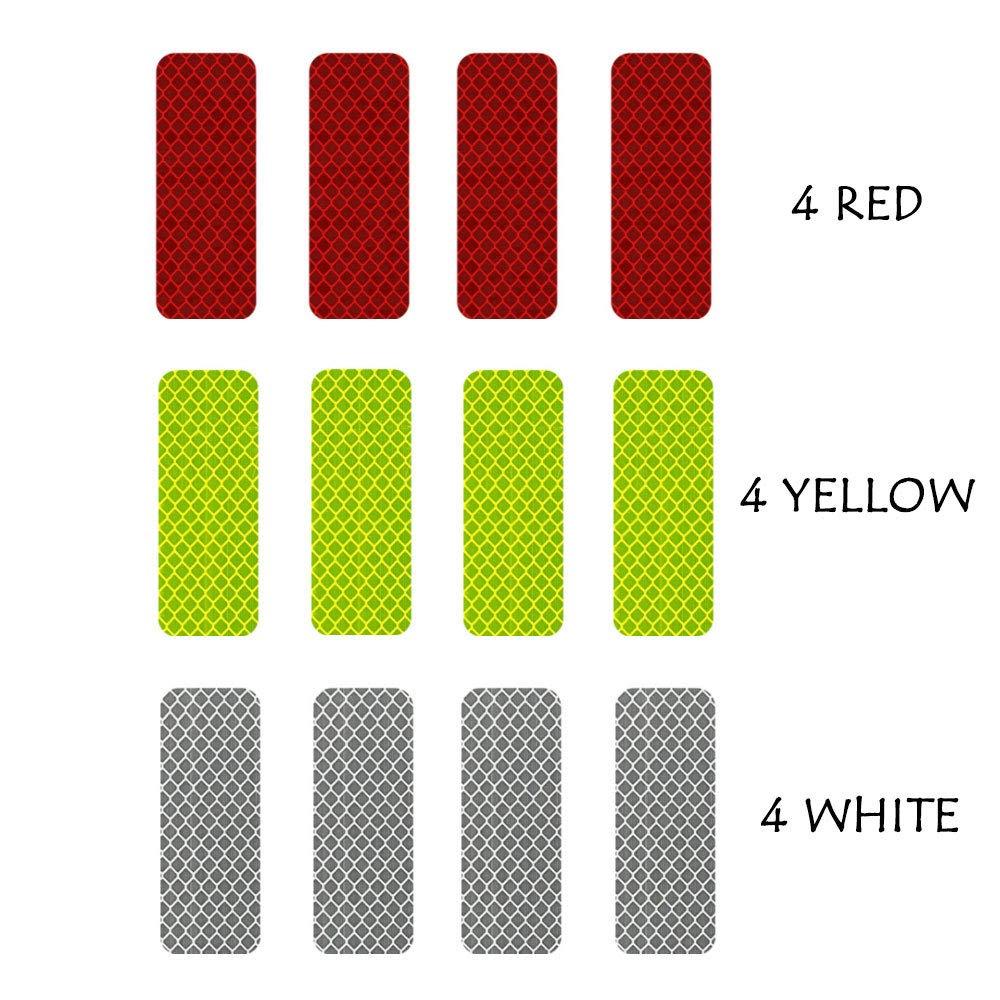 3m reflective diamond grade dg3 hi vis waterproof stickers multi color pack 12 pcs 1 18in x 3 25in 3cm x 8cm