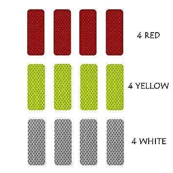 3M Reflective Diamond Grade DG3 Hi-Vis Waterproof Stickers Multi-Color Pack  - 12 pcs 1 18in x 3 25in (3cm x 8cm)