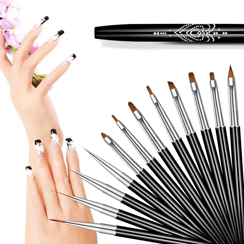 Tiny Pen Tools Kit Drawing Brush 10Pcs Art Tips Liner Painting Acrylic  Nail