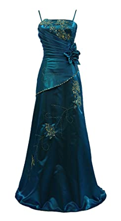 fda302a3b5 Image Unavailable. Image not available for. Colour  Cherlone Blue Long  Wedding Evening Formal Ballgown Bridesmaid Dress Size 18-20