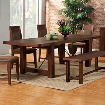 Dining Table With Dual Removable Leaves