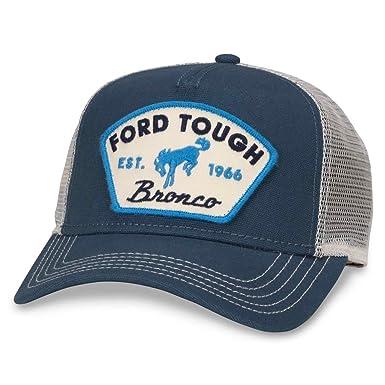 e129f897b American Needle Valin Mesh Trucker Snapback Hat, Ford Tough, Ivory/Navy  (FORD-1709A)