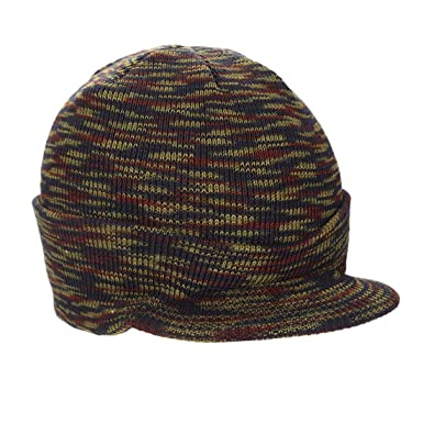 da11c16ec16 Sunbo Peaked Beanie Hat Insulated Warm Knitted Thermal Winter Stylish Peak  Cap Camouflage  Amazon.co.uk  Clothing