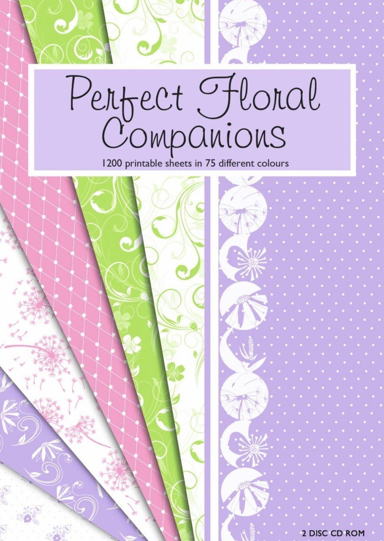 Creative World of Crafts Perfect Floral Companions CD con Software con Motivi Decorativi