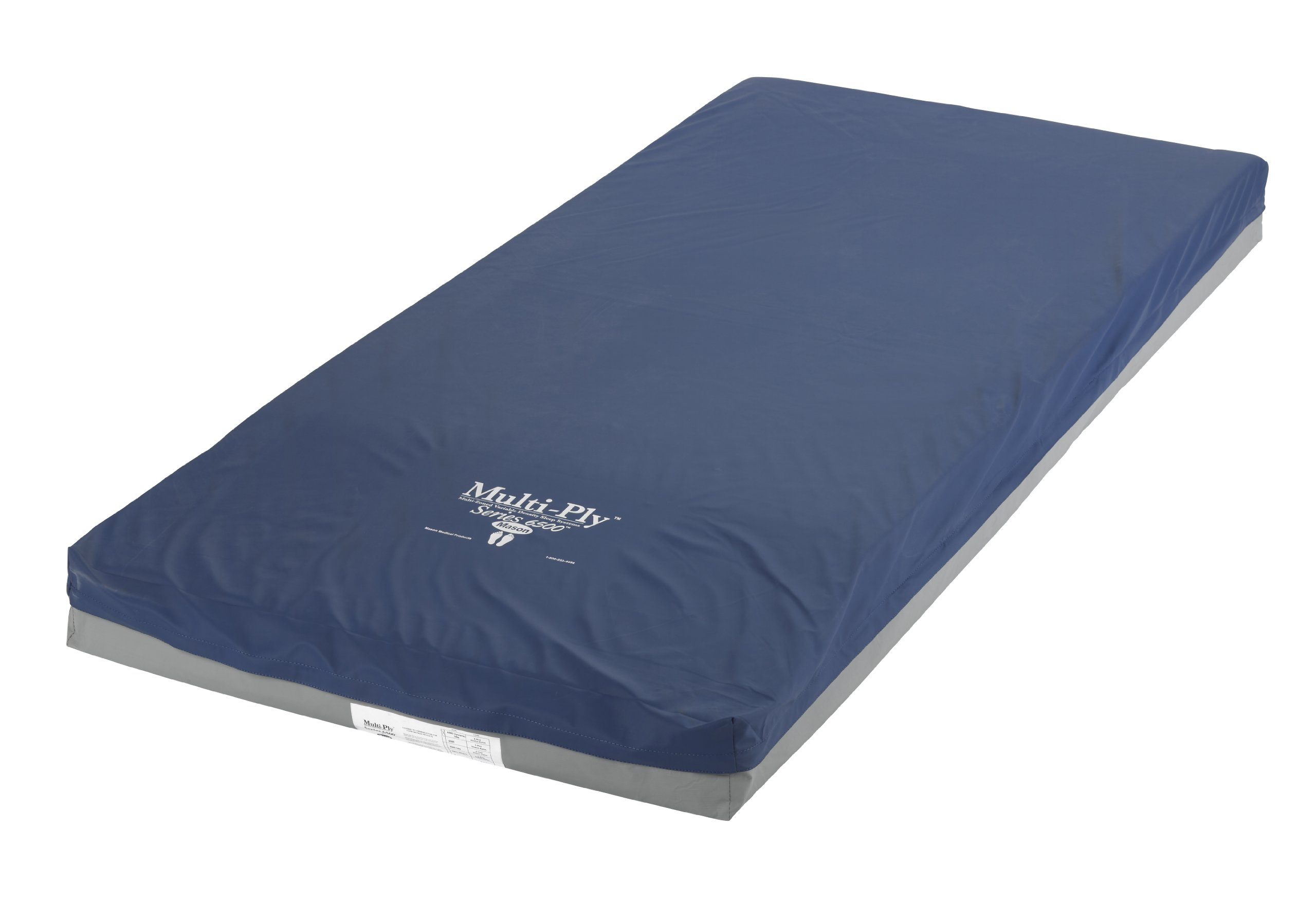 Drive Medical Multi-Ply Global Foam 4 Layer Pressure Redistribution Mattress, Elevated Perimeter, 76''