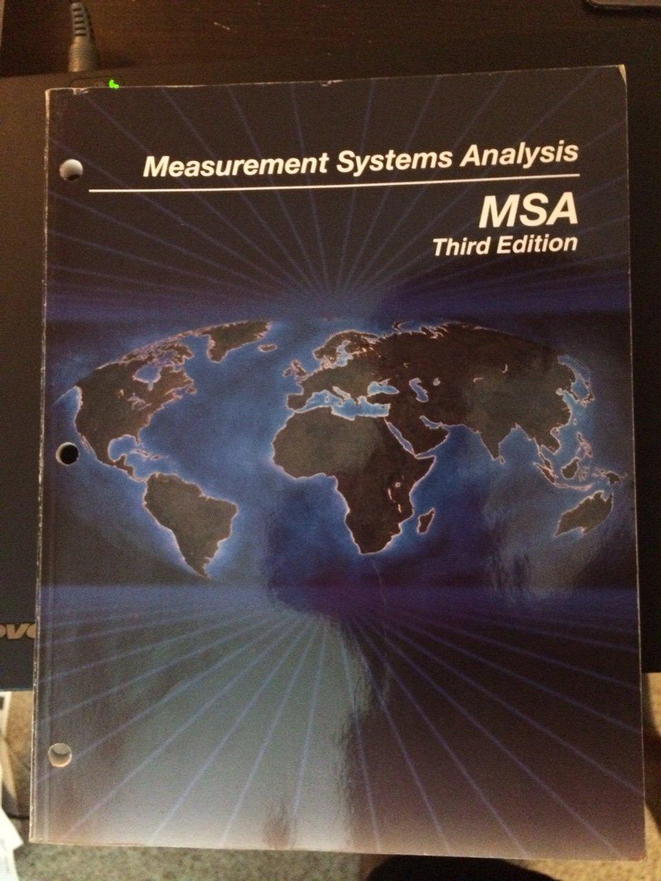 Measurement Systems Analysis (msa): Aiag: 9781605342115: Amazon: Books