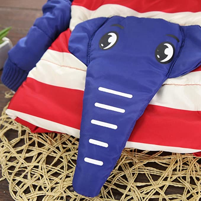 ca068a583 Amazon.com  KONFA Baby Girls Boys Lovely Cartoon Elephant Striped ...