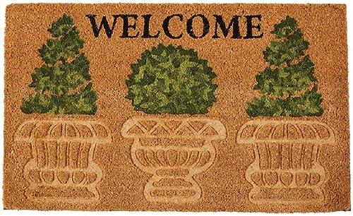 Mud Pie Welcome Topiary Doormat