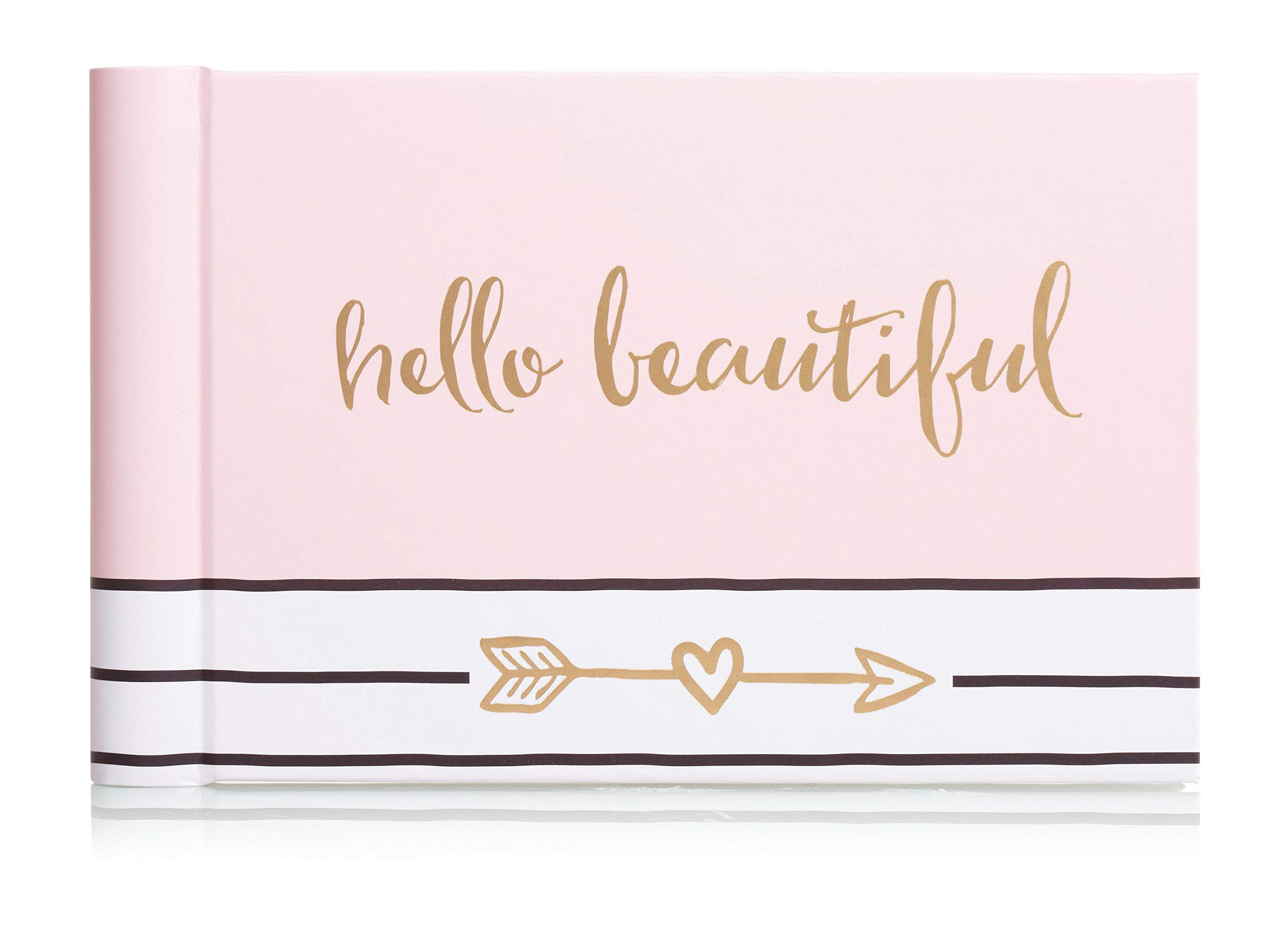 Pearhead Hello Beautiful Brag Book, A Perfect Gift for Expecting Parents, or Addition to Baby Registry, Pink