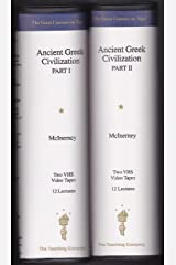 Ancient Greek Civilization Part 1 & 2. VHS Tapes (Volumes 1 and 2) Paperback