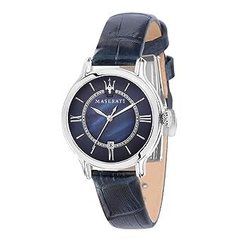 MASERATI Reloj Analógico para Mujer de Cuarzo con Correa en Cuero R8851118502: Amazon.es: Relojes