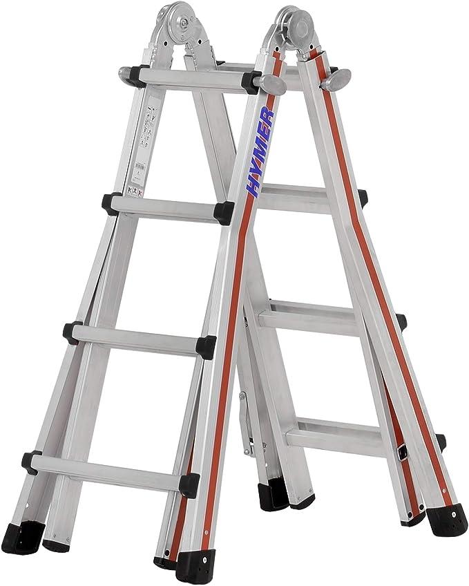 Hymer 804216 SC 80 Telestep - Escalera de mano (aluminio, 4 x 4 peldaños): Amazon.es: Bricolaje y herramientas