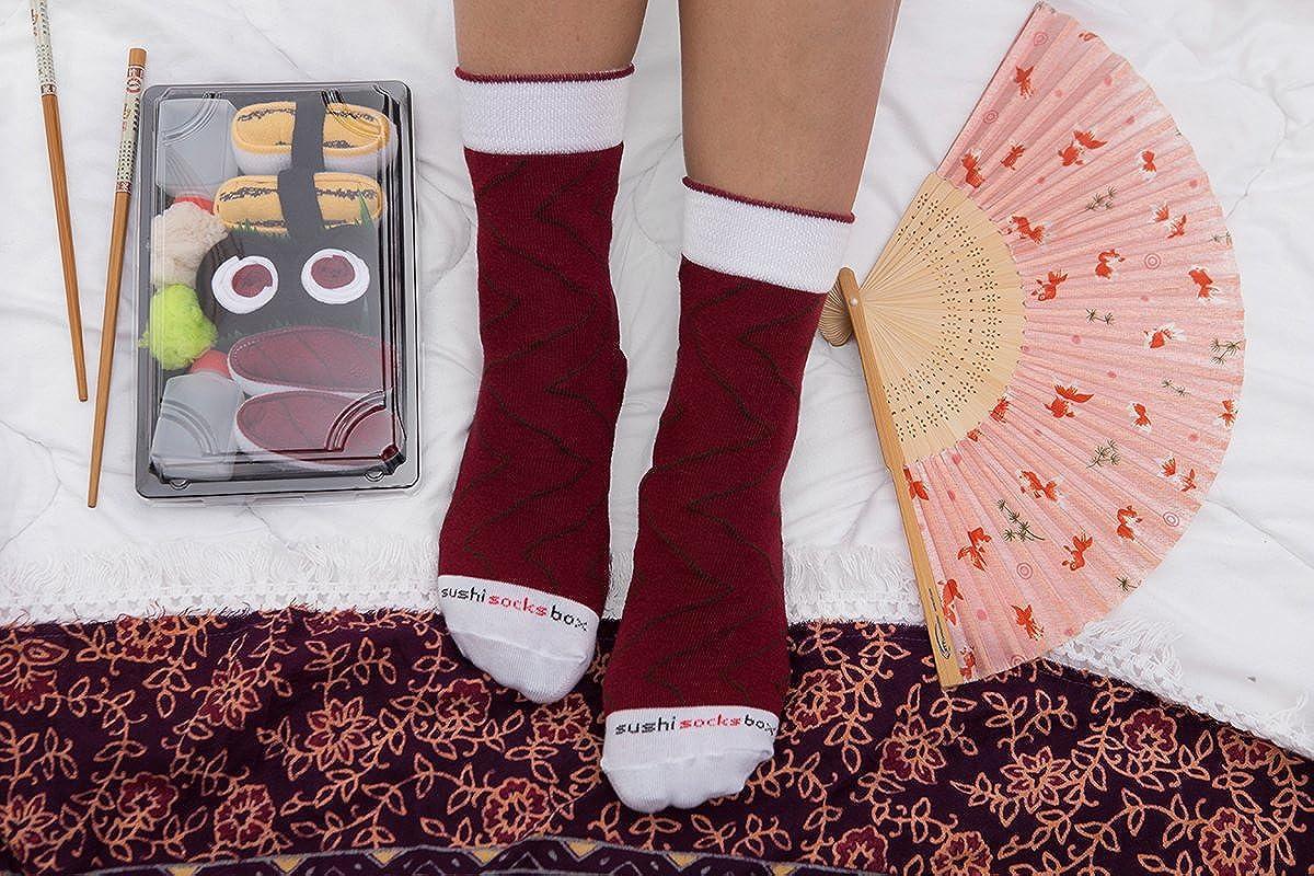 Donna Uomo Calzini Sushi Tonno Salmone 2 Paia Rainbow Socks