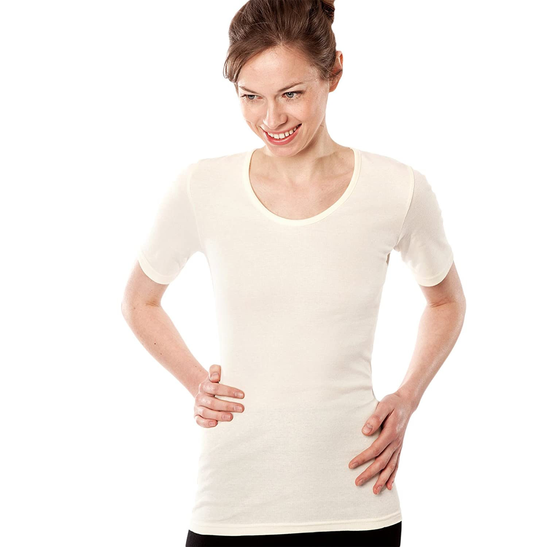 Camiseta interior mujer manga corta 100% algodón orgánico: Amazon.es: Ropa y accesorios