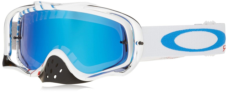 0d77683cff Amazon.com  Oakley Crowbar MX Ryan Villopoto Men s Dirt MotoX Motorcycle  Goggles Eyewear - High Octane RWB Black Ice Iridium One Size Fits All   Automotive