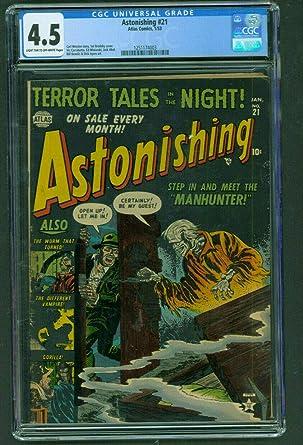 Amazon com: Astonishing #21 CGC 4 5 VG+ Atlas Comics pre code horror