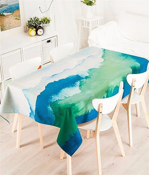 85 * 85 cm azul verde Tie-Dye Nordic estilo ins minimalista ...