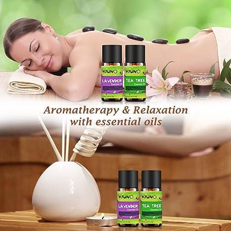 Aceites esenciales, 18 aceites de aromaterapia de 8 ml, set de regalo, sándalo, menta, limón, árbol de té, eucalipto, rosemario, incienso, limón, canela, ...