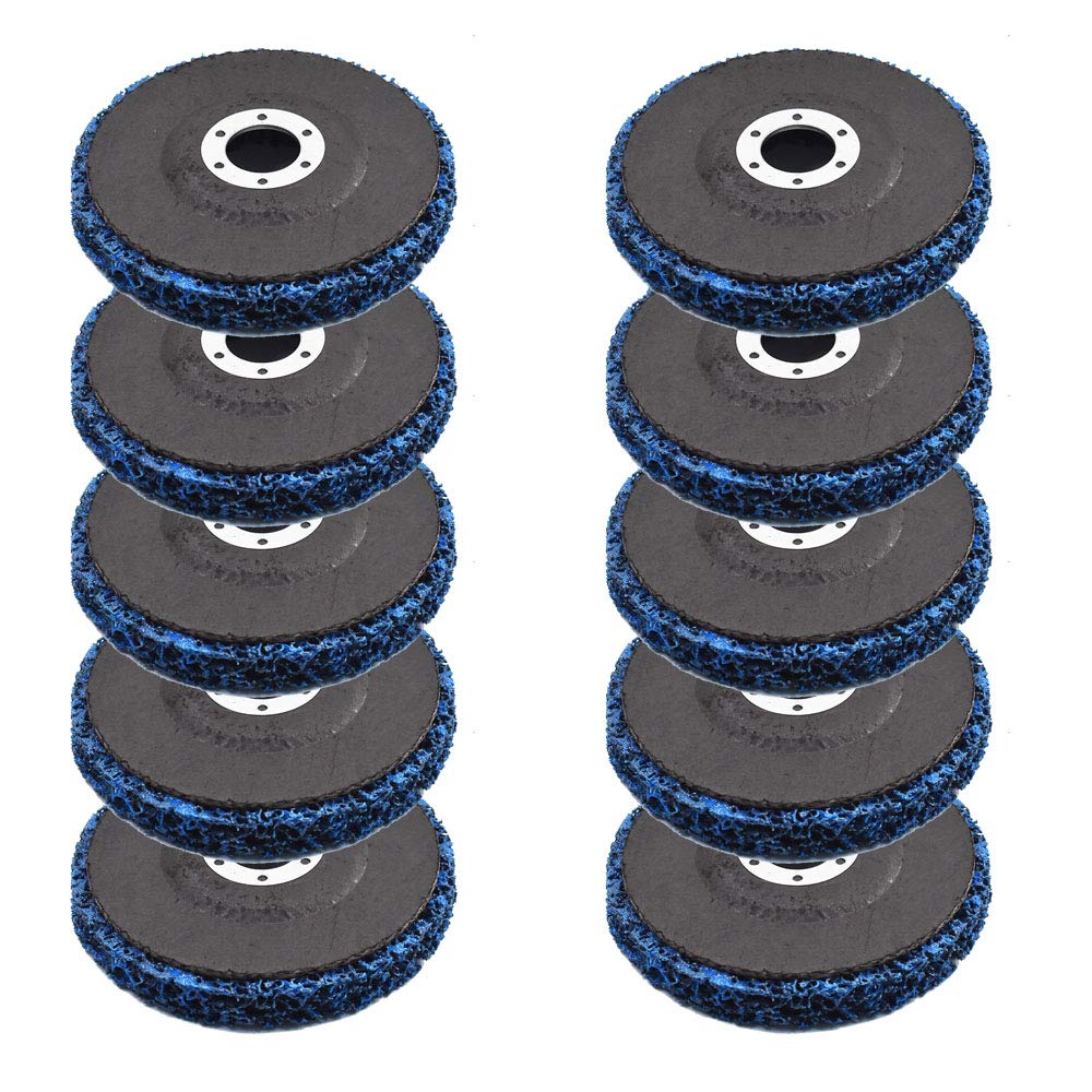 10 Pack 4.5x7//8 Easy Strip 4-1//2 Discs Remove Paint Rust /& Clean