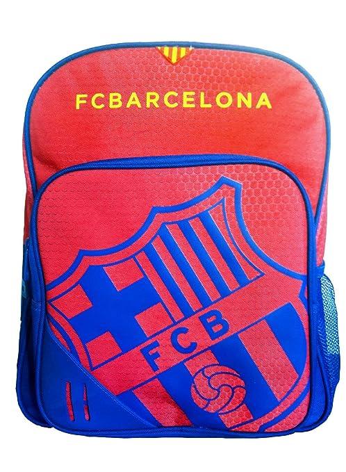 Mochila Escolar para Niño FC Barcelona Adaptable A Carro Mas Estuche De Regalo