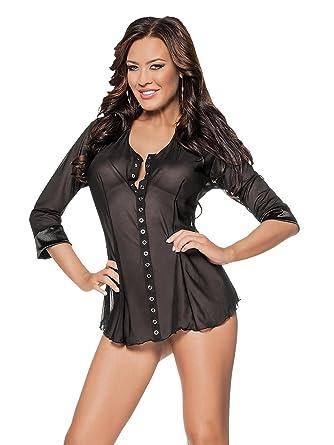 Escante Women s Plus Queen Size Boyfriend Shirt at Amazon Women s ... 78b18a548