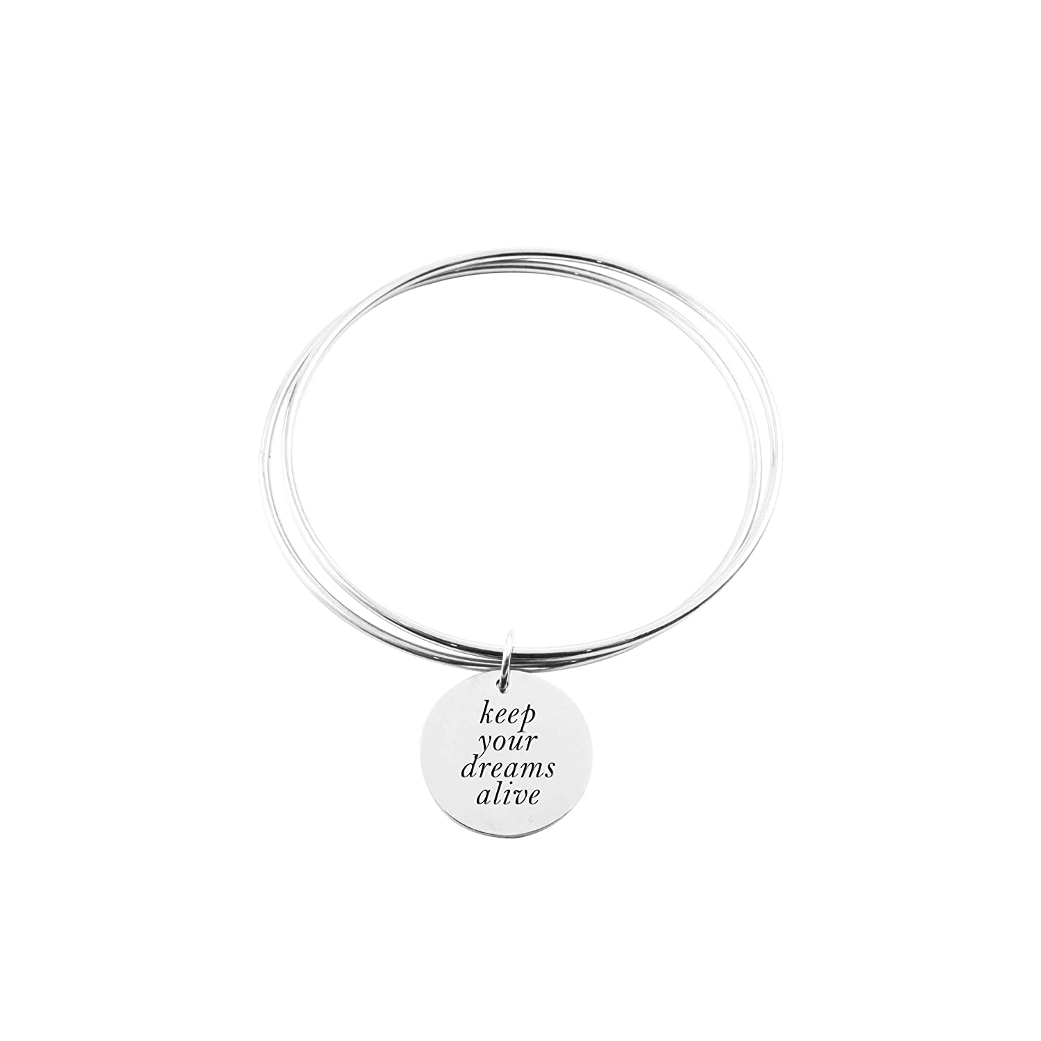 Keep Your Dreams Alive Pink Box Two Layer Bangle